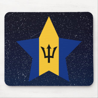 Barbados Flag Star In Space Mouse Pad