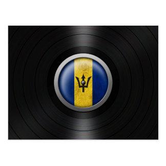 Barbados Flag Vinyl Record Album Graphic Postcard