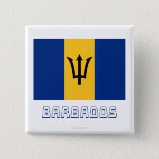 Barbados Flag with Name Button