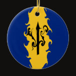 Barbados Gnarly Flag Ceramic Ornament