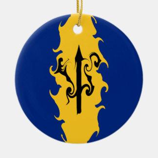 Barbados Gnarly Flag Ceramic Ornament