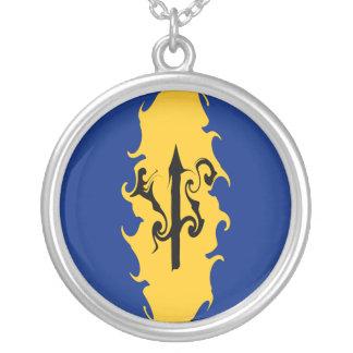 Barbados Gnarly Flag Custom Necklace