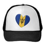 Barbados Heart Flag Trucker Hats