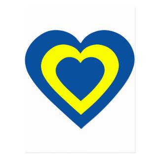 barbados-heart postcard