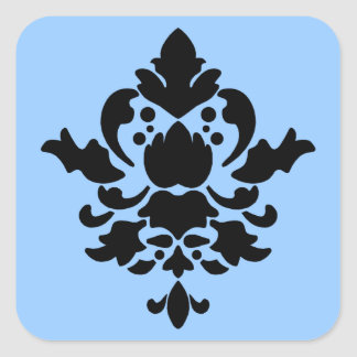 BARBADOS in Black - Custom Background Color Square Sticker
