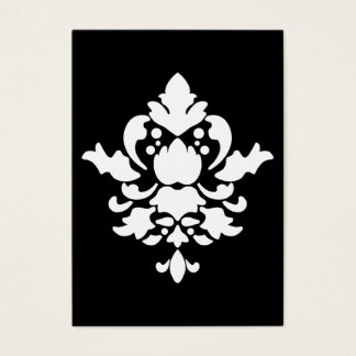 BARBADOS in White on Black Business Card