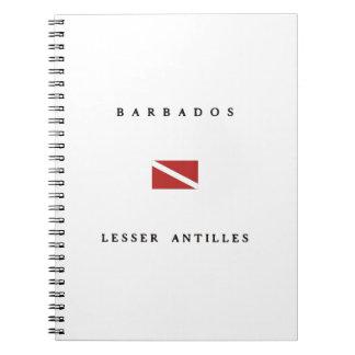 Barbados Lesser Antilles Scuba Dive Flag Spiral Notebook