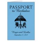 Barbados Light Blue Wedding Passport Card