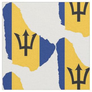 Barbados Map Fabric