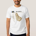 Barbados Map + Flag + Title T-Shirt