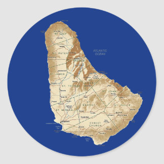 Barbados Map Sticker