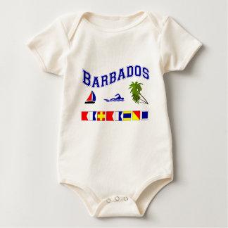 Barbados - (Maritime Flag Spelling) Baby Bodysuit