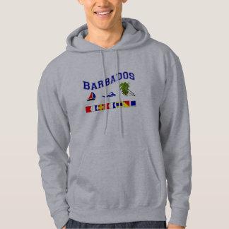 Barbados - (Maritime Flag Spelling) Hoodie