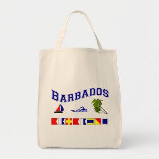 Barbados - (Maritime Flag Spelling) Tote Bag