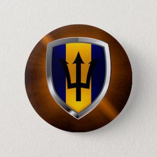 Barbados Mettalic Emblem Button