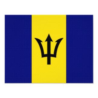 Barbados National Flag Card