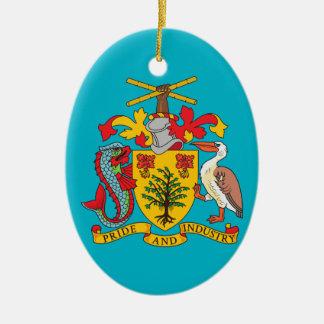 Barbados - ornamento del navidad adorno navideño ovalado de cerámica