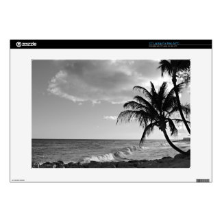 Barbados Palm Tree Beach Decal For Laptop