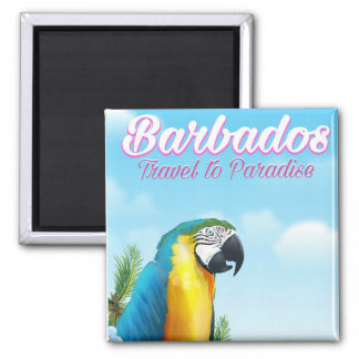 Barbados Parrot travel poster Magnet