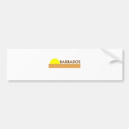 Barbados Pegatina De Parachoque