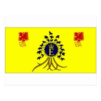 Barbados Personal Flag of HM The Queen Flag Postcard