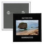 Barbados, rocas de Bathsheba Pin Cuadrada 5 Cm