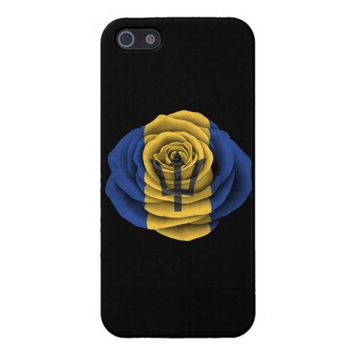 Barbados Rose Flag on Black iPhone 5/5S Covers