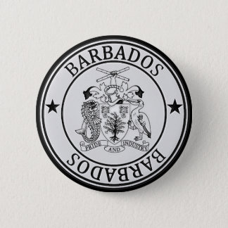 Barbados  Round Emblem Button