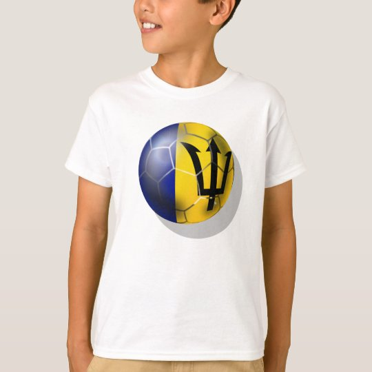 Barbados soccer football ball Bajan flag T-Shirt