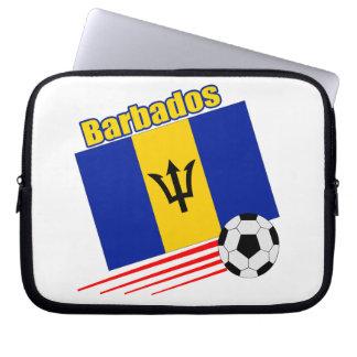 Barbados Soccer Team Computer Sleeves