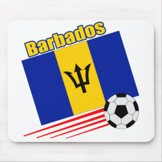 Barbados Soccer Team Mouse Mat