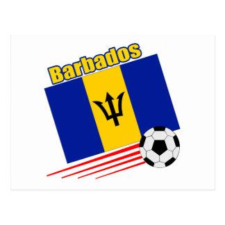 Barbados Soccer Team Postcard