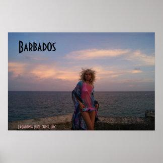 Barbados Sunset Poster