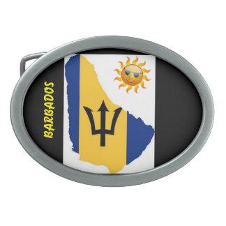 Barbados Themed Belt Buckle