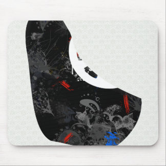 Barbados Trendy Peace Sign with Barbadian map Mouse Pad