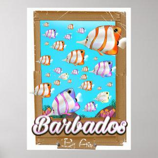 Barbados Tropical Fish travel poster