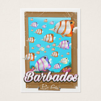 Barbados Tropical Fish travel poster Business Card