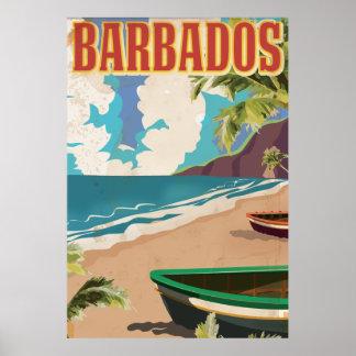 Barbados vintage travel poster