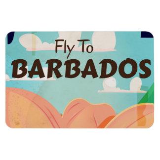 Barbados vintage travel poster magnet
