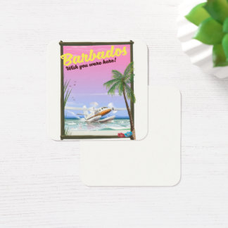Barbados - wish you were here! square business card