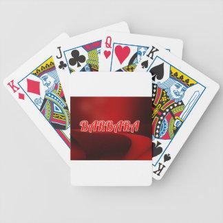 barbara. bicycle playing cards