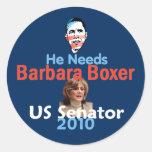 Barbara BOXER 2010 Sticker
