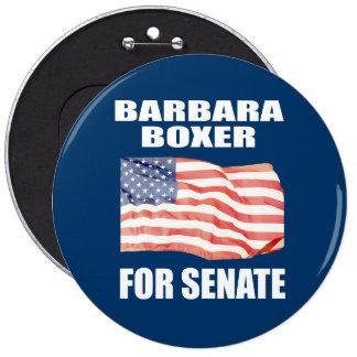 BARBARA BOXER FOR SENATE PINBACK BUTTON