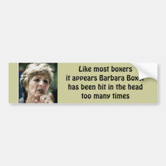 Barbara Boxer liberal anti Pegatina Para Auto