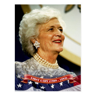 Barbara Bush, First Lady of the U.S. Postcard