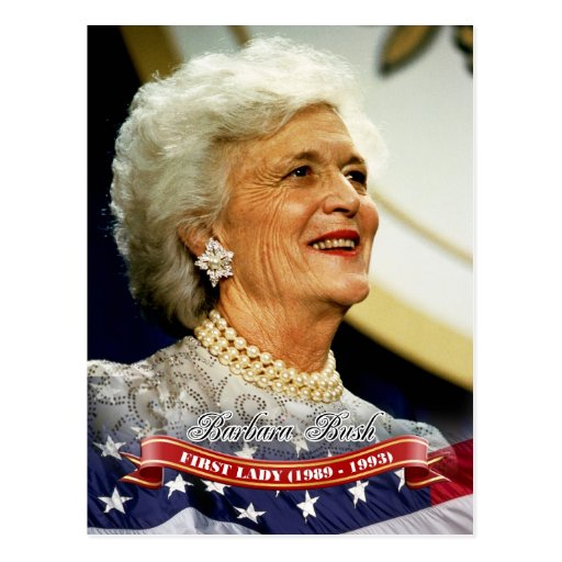 Barbara Bush, First Lady of the U.S. Postcards
