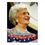 Barbara Bush, primera señora de los E.E.U.U. Tarjetas Postales