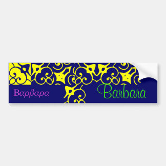 Barbara Designer Name Bumper Sticker