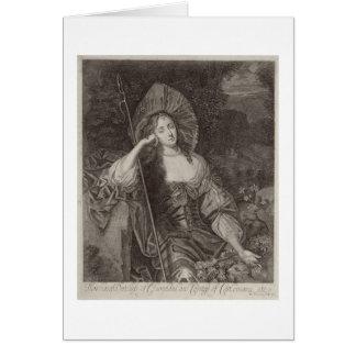 Barbara Duchess of Cleaveland (1641-1709) as a She Card