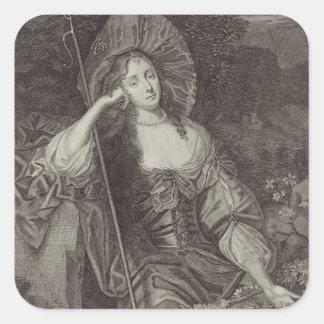 Barbara Duchess of Cleaveland (1641-1709) as a She Square Sticker